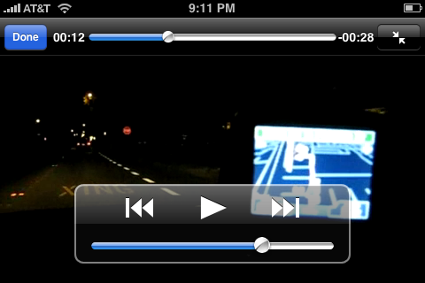 Video playing in YouTube app on iPhone