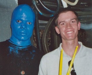 Wysz and Blue Man