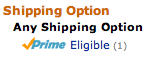 Shipping Option: Any Shipping Option: Prime Eligible (1)