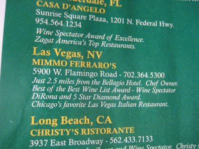 Chicago's favorite Las Vegas Italian Restaurant