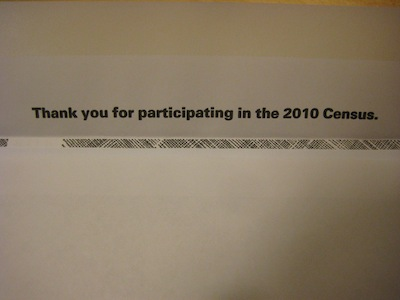 Thank you for participating in the 2010 Census.