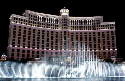long exposure of Bellagio fountain