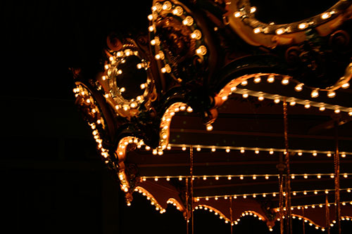Lights on a carousel