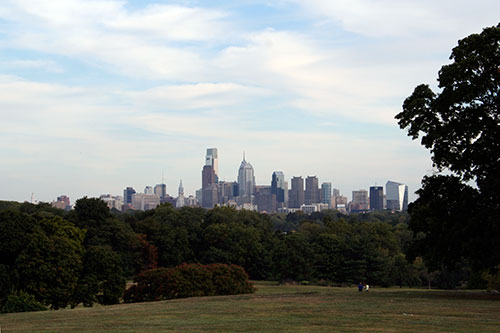 Philadelphia skyline as seen from Fairmount Park