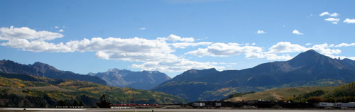 View from Telluride airport lounge