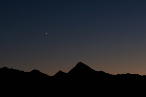 Venus over Wilson Peak
