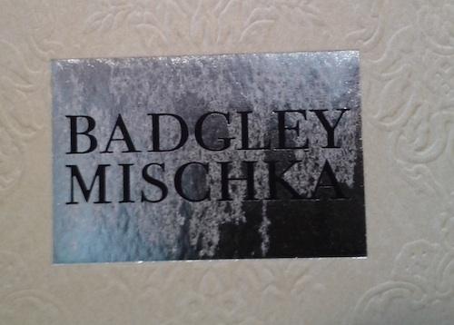 Badgley Mischka smeared logo