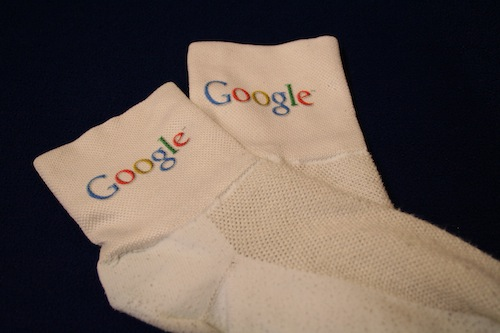 Google bike socks