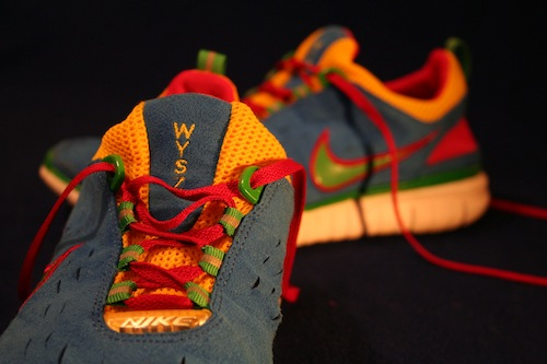 shoes with Google colors and WYSZ written on the toe