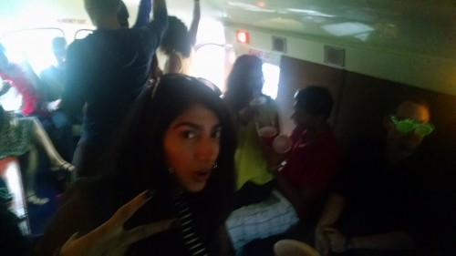party in the bus